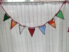 STAINED GLASS BUNTING - 7 FLAGS