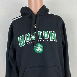 Adidas Boston Celtics Pullover Hoodie Sweatshirt NBA Basketball Black Size Small