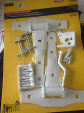 Stanley Gate Hardware - Ornamental Gate Tee And Latch Set - 79-0896 White Steel
