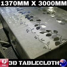 3D PVC TABLE CLOTH DINING TABLE PROTECTOR COVER 1370MM X 3000MM CAMPING PICNIC
