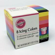Wilton Icing Colors 8 jars 1/2 ounce each. 4 oz total Red Green + More NEW
