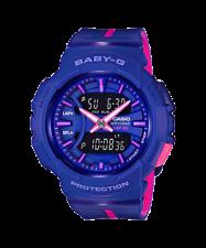 BGA-240L-2A1 - Casio Baby-G бег серия синий смолы ремень женские часы