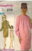 6778 Vintage Simplicity Sewing Pattern Misses Designer Fashion Dress Scarf OOP