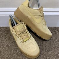 Nike Air Force 1 Sage Low Club Gold Ladies Womens Trainers UK Size 4