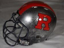 Riddell Rutgers Scarlet Knights Team Issue Game Used Football Helmet Large