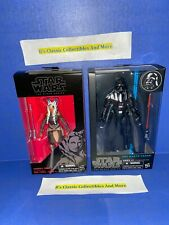 "Star Wars The Black Series Darth Vader & Ahsoka Tano 6"" Figures New"