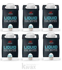 (9,63 Euro/L) XXL Nutrition Pure Egg White liquid flüssiges Eiklar - 6 x 483ml