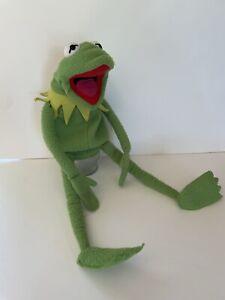 Vintage EDEN Muppets Kermit Frog Large Plush Full Body Hand Puppet Collar RARE