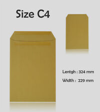 C4 SIZE MANILLA BROWN ENVELOPES PLAIN SELF SEAL 90 gsm