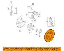 FORD OEM Rear Brake-Rotor 9E5Z2C026B