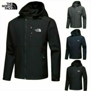 The North Face Herren Full Outdoor Jacke Zip Lässiger Soft Shell Coat Mantel