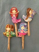 Cupcake Cake Toppers Mermaid  24pcs