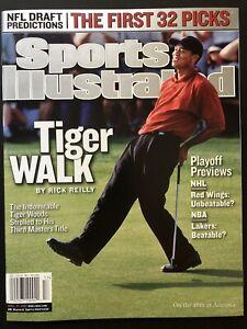 Tiger Woods April 2002 Sports Illustrated Tiger Wins 3rd Masters NO LABEL MINT