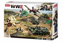 SlubanKids Army Building Blocks WWII Series Battle Of Kursk Toy For Kids
