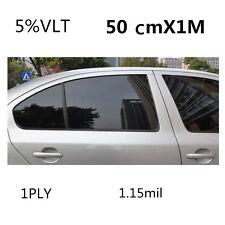Car Black Car Home Glass Window Tint Tinting Film and shade Roll 50cm*1m 5% VLT