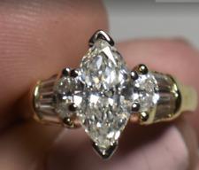 $15K GIA 2ct Diamond Marquise G-VS2 Mayor's 18K Gold Engagement Wedding Ring