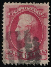 Scott #137 VF - 6c Carmine - Lincoln - H-Grill - Used - 1870
