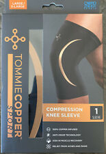 Tommie Copper Sport Knee Brace Compression Sleeve Joint Leg Pain Relief L/XL Blk