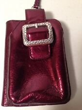 Authentic BRIGHTON Wrist Strap Wallet and Cell Phone Holder in Purple
