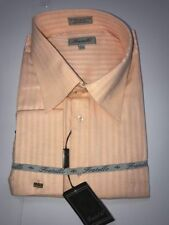 NWT Fratello Men's Long Sleeve Dress Shirt - 20.5X36/37 - PEACH