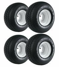 "Set of 4 - Kenda Hole-N-1 White 8"" x 7"" 4-Hole Wheel and (18x8.50-8) Tire Combo"