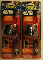 LOT OF 2 - New & Sealed DARTH VADER Star Wars Toothbrushes with Helmet Caps MOC