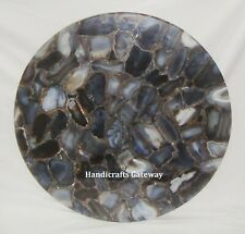 Decorative Round Agate Table Top, Handicrafts Gemstone Agate Coffee Table Tops