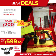 Hilti Te 15-C Drill, Drills And Chisels, Durable, Free Angle Grinder,Fast Ship