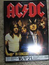 ORIGINAL AC/DC VINTAGE ROCK POSTER 1979 DORTMUND GERMANY TOUR  HIGHWAY TO HELL
