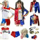 Adult Kids Cosplay Costume Harley Quinn Suicide Squad Halloween Fancy Dress