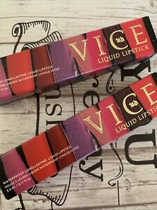 Set Of 2 Urban Decay Vice Liquid Lipstick, Mad (Metallized) New & Boxed Fl Sz