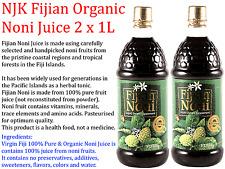 2 x 1L NJK Fijian Organic Noni Juice ( Total 2L )  *  100% pure fruit juice