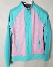 Ivivva Size 14 Girls Jackets Pink Blue Gray Athletic Reversible Space Dye