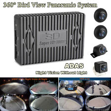 Car 360° Bird View Panoramic System Night Vision ADAS w/ Seamless Splice Cameras