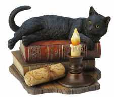 Lisa Parker Witching Hour Black Cat with Books Statue
