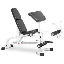 XMark Fitness FID Weight Bench & Leg & Preacher Curl XM-4419-WHITE