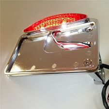 Fit For Motorcycle LED Tail Brake Light Side Mounted License Plate Assembly CHRO