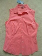 Women's Plus Size No Pattern Cotton Blend Sleeveless Tops & Shirts