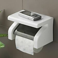 Bathroom Accessories Toilet Paper Tissue  Phone Holder Wall Mounted Dispenser