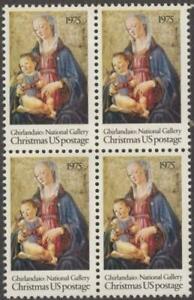 Scott # 1579 - US  Block Of 4 - Ghirlandaio Madonna & Child  - MNH -1975