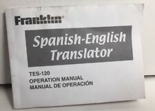 Franklin SpanisH - English Operation Manual Only Tes-120