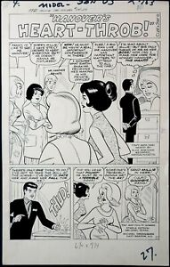 ORIGINAL ART, MILLIE the MODEL #114 (p1/27) SPLASH STAN GOLDBERG 1963 (ART# 1476