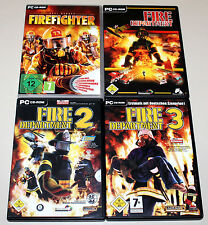 4 PC SPIELE BUNDLE - FIRE DEPARTMENT 1 2 3 FIREFIGHTER REAL HEROES - FEUERWEHR