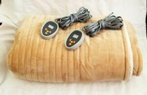 Woolrich Heated Electric Bedspread Blanket Soft Warm Luxury Plush Ivory King SZ