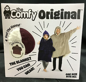 THE COMFY Original | Oversized Microfiber & Sherpa Wearable Blanket New