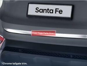 Genuine Hyundai New Chrome Tailgate Trim suits Hyundai Santa Fe 10/2020>