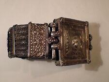 Antique Tribal Ethnic Vintage Knitted Silver Bracelet  153 g