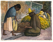 Rivera Diego Vendedora De Lena Canvas 16 x 20    #8847