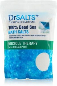 DrSalts 100% Dead Sea Bath Salts with Eucalyptus Muscle Therapy with Natural Min