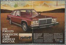 1979 FORD LTD 2-page advertisement, Ford LTD Landau sedan